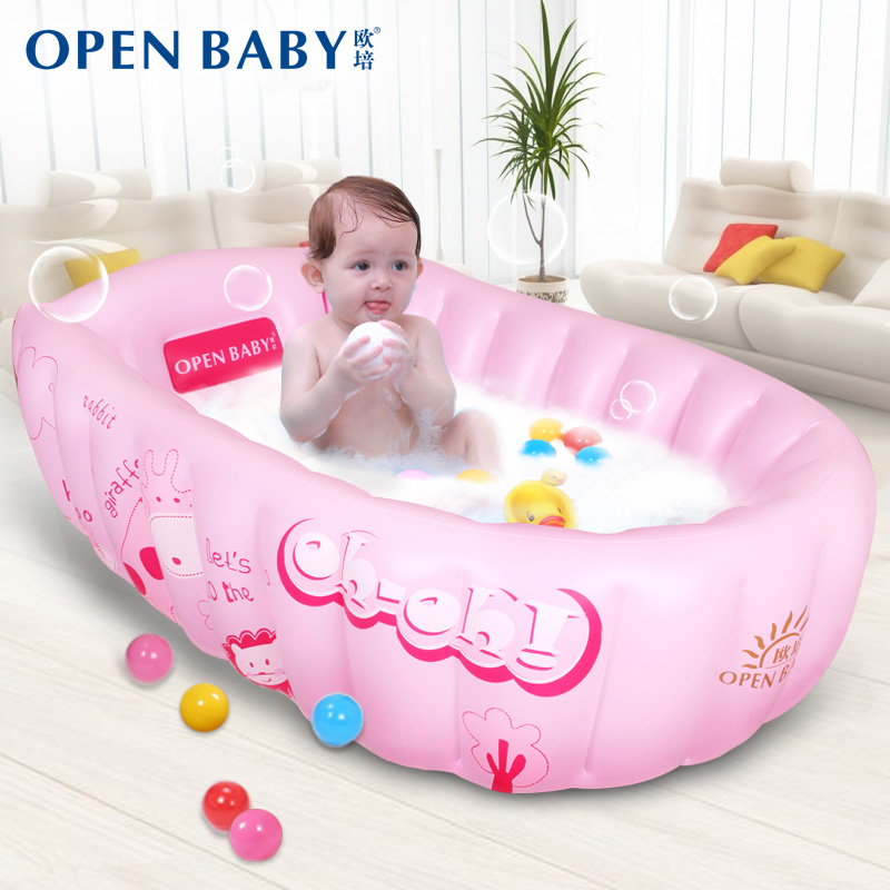 USD 128.21] Baby tub baby bath tub inflatable large thick insulation ...