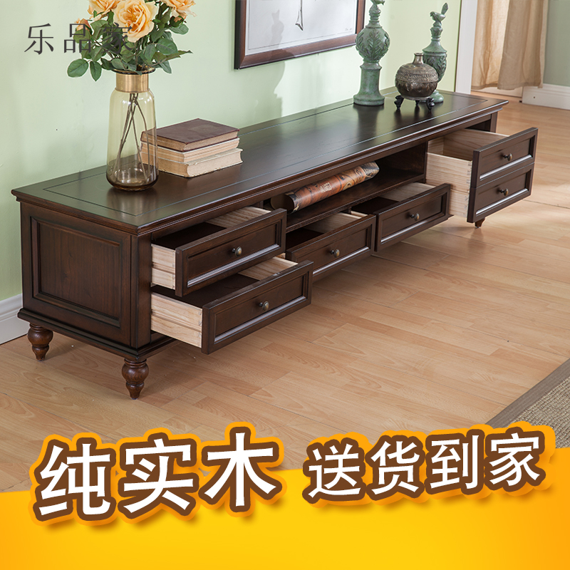 Superb Simple American Country Solid Wood Tv Cabinet Coffee Table Combination Retro Old Tv Cabinet Living Room Locker Cabinet Download Free Architecture Designs Grimeyleaguecom