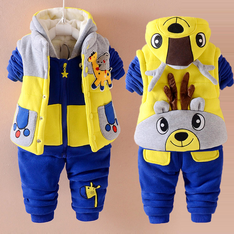 eb022000c USD 47.43  Boys   clothes autumn and winter models set baby ...