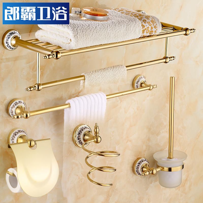 Континентальный для полотенец все медь для полотенец ванная комната стеллажи золотой античный ванная комната ванная комната аппаратные средства кулон установите