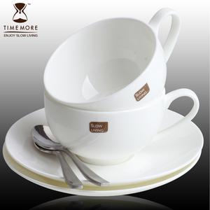 Tama xương tách cà phê china và chiếc đĩa đặt thanh lịch đơn giản đồ dùng cà phê Châu Âu trà buổi chiều cup với muỗng cà phê