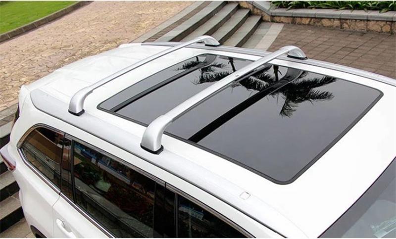 2pcs Plastic Aluminum Alloy Roof Luggage Racks For Toyota
