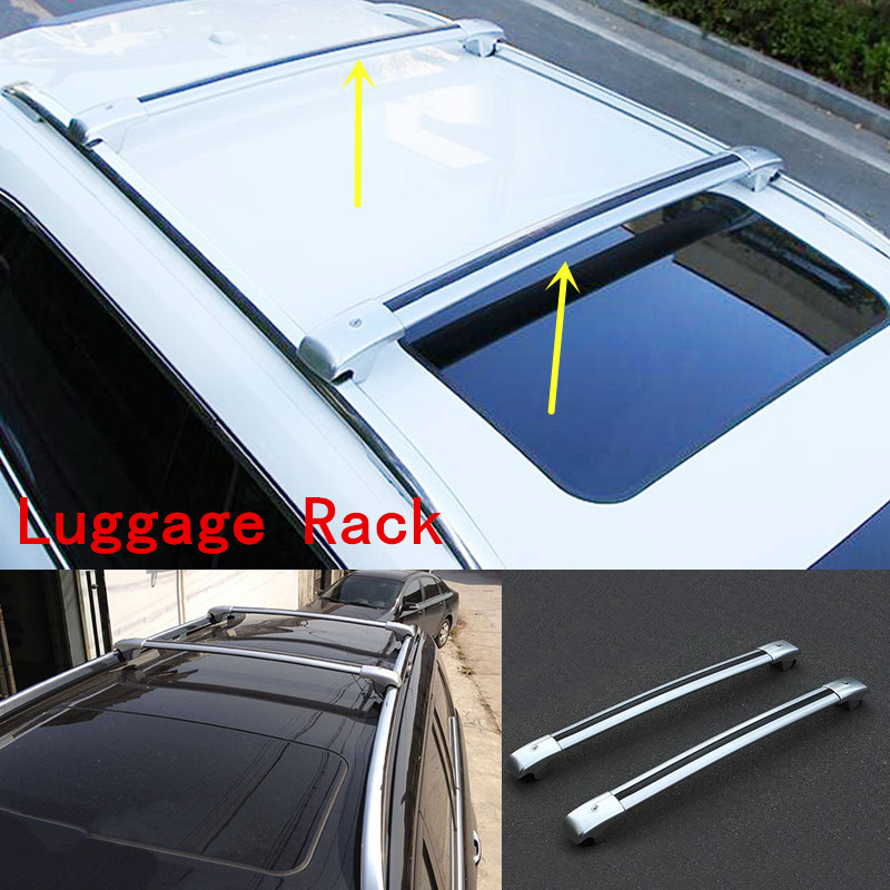 2pcs Silver Luggage Carrier Roof Rack Cross Rack For