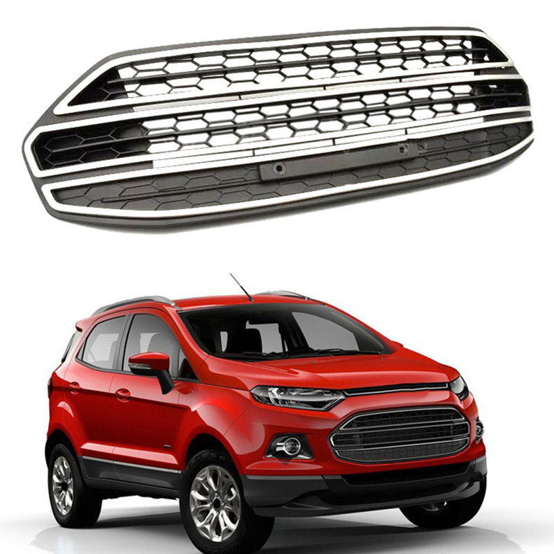 For Ford Ecosport   Abs Plastic Front Bumper Lower Grille Grill