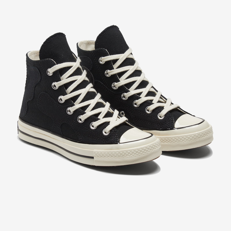 CONVERSE匡威官方 Chuck 70拼接高帮复古运动鞋休闲女鞋571163C