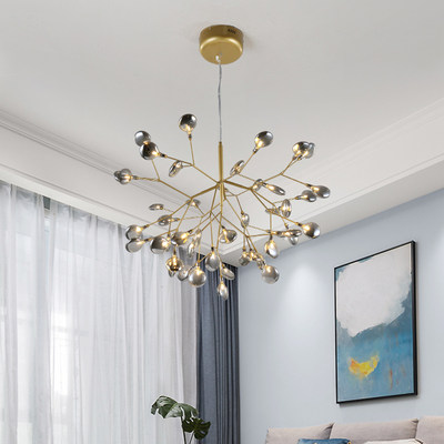 Postmodern simple dining room chandelier branch firefly lamp Nordic style art personality bedroom living room lamp