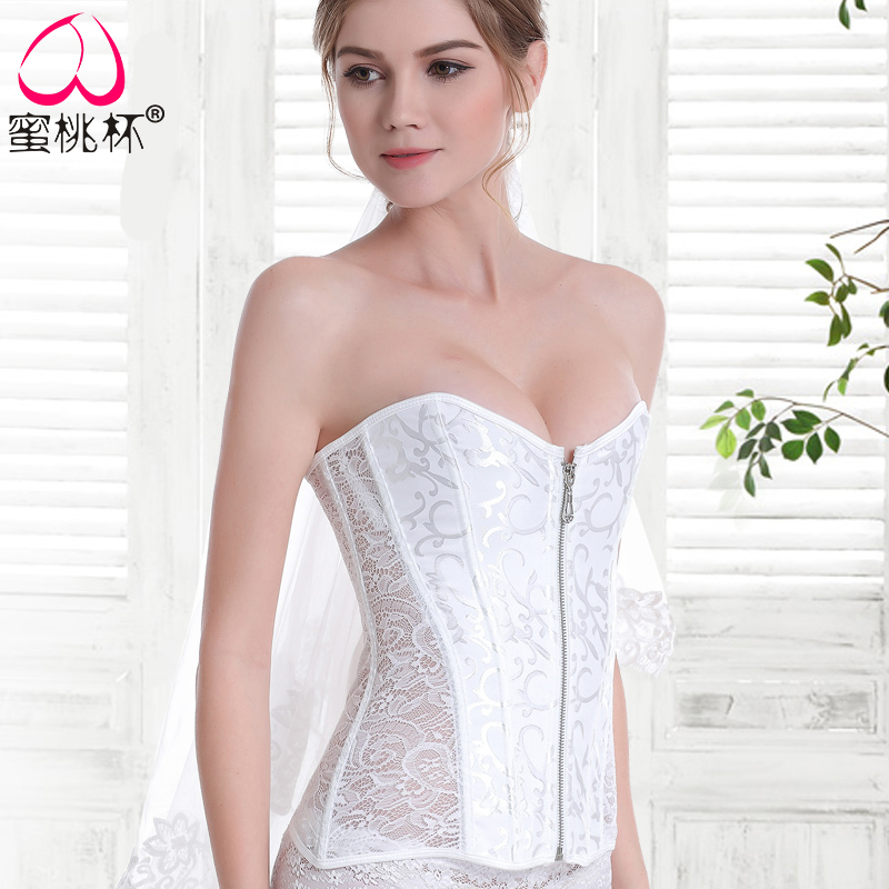 Usd 46 65 Strapless Wedding Dress Corset Abdomen Fat Chest Chest