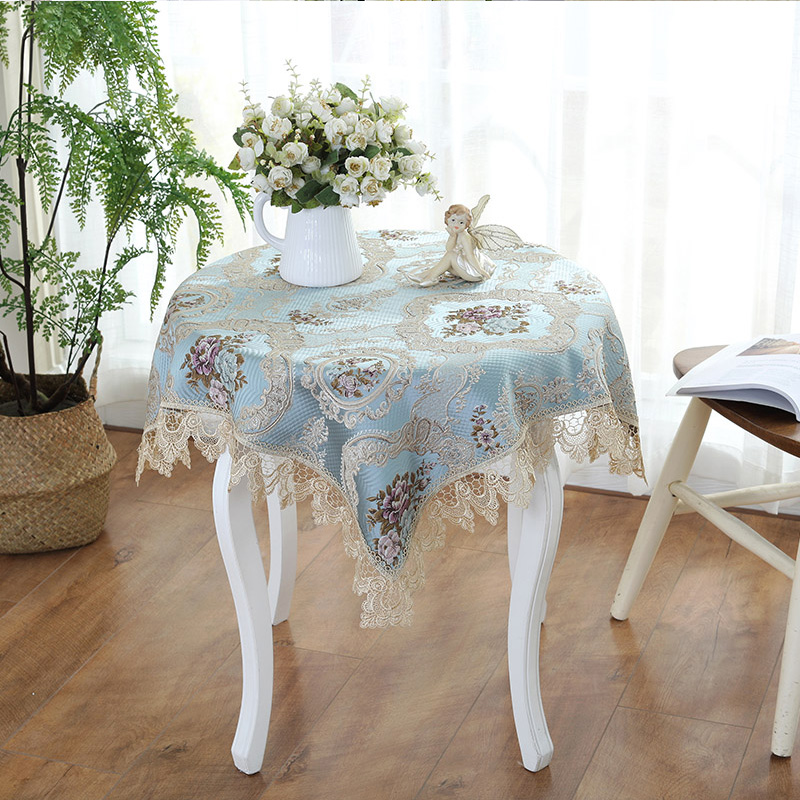 Thai Embroidery European Style Bedside Table Cover Cloth Lace Cloth  Multi Purpose Cover Towel TV
