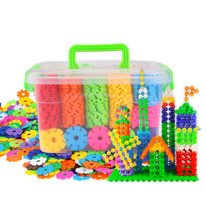【嘉达】儿童雪花片积木玩具*300片