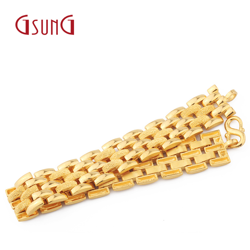 Gsung Gold Au999 Bracelet Solid Atmosphere Men And Women Pure Boss Jewelry