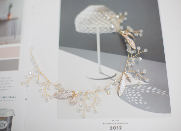水晶水钻亮闪闪唯美金属叶子手腕花环新娘伴娘节日活动婚礼结婚详细照片