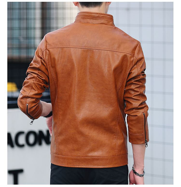 Men's leather 2020 autumn/winter new leather jacket handsome big size locomotive clothes trend a hundred men's jackets 61 Online shopping Bangladesh