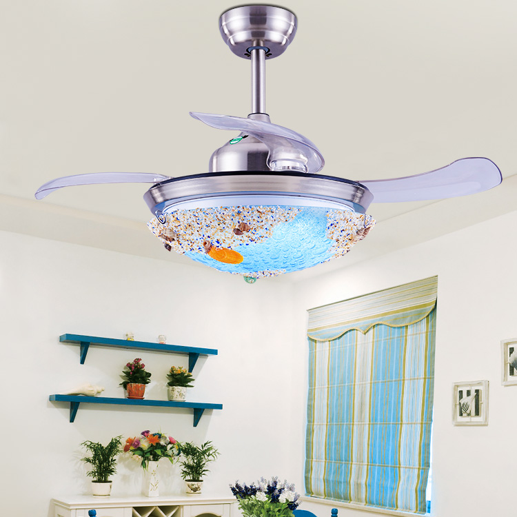 Usd 130 80 Shell Invisible Ceiling Fan Light Children S