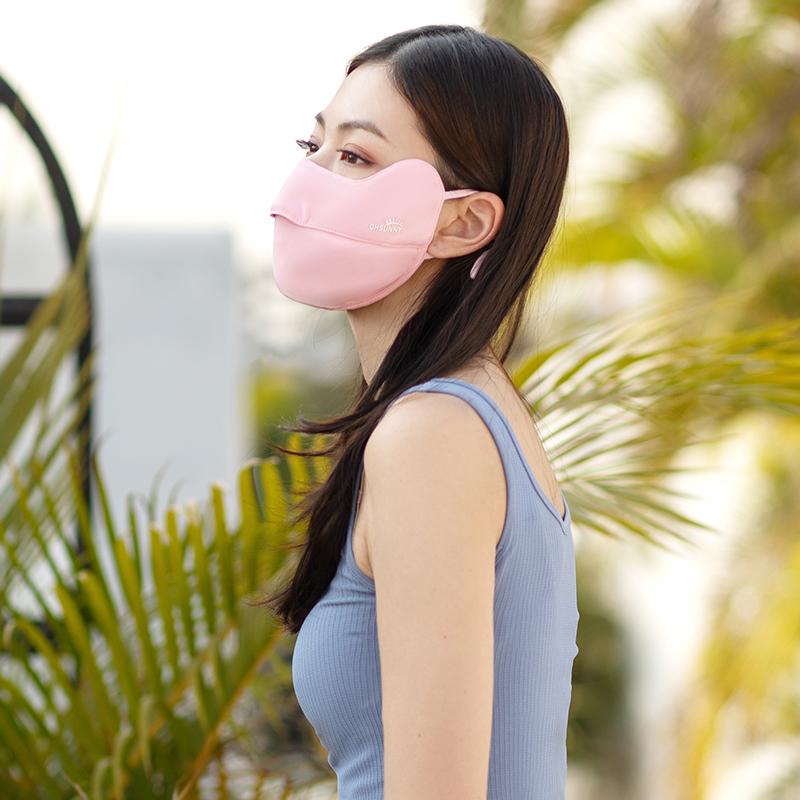 ohsunny防晒口罩女夏季时尚透气全脸护眼角防紫外线薄款遮阳面罩