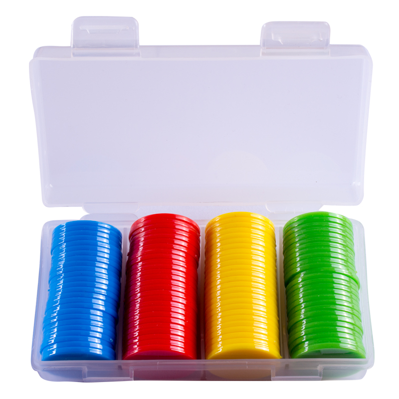 Chips coins plastic blank small discs learning integral currency