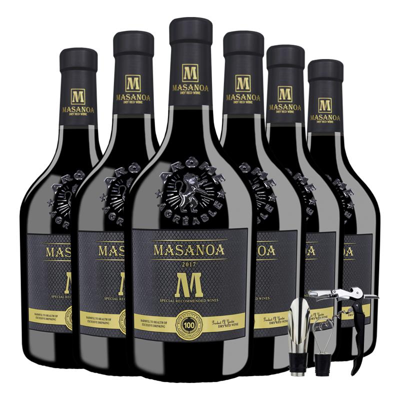 14度葡萄酒红酒法国进口正品干红葡萄酒红洒一箱6支装整箱酒包邮