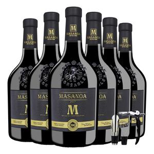 顺丰包邮法国进口14度干红葡萄酒6支装