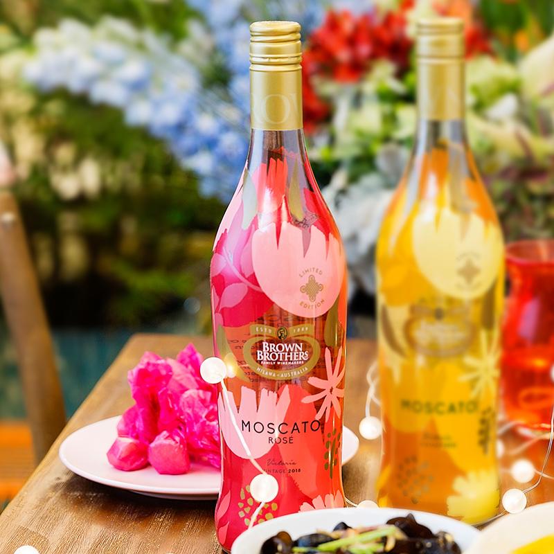 ASC 布琅兄弟/布朗兄弟莫斯卡托桃红甜型葡萄酒1瓶单支装进口红酒
