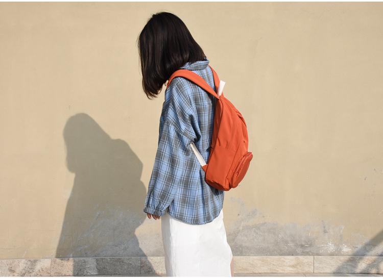 花曦古着感书包女韩版百搭高中潮揹包风大学生超火的双肩包女详细照片