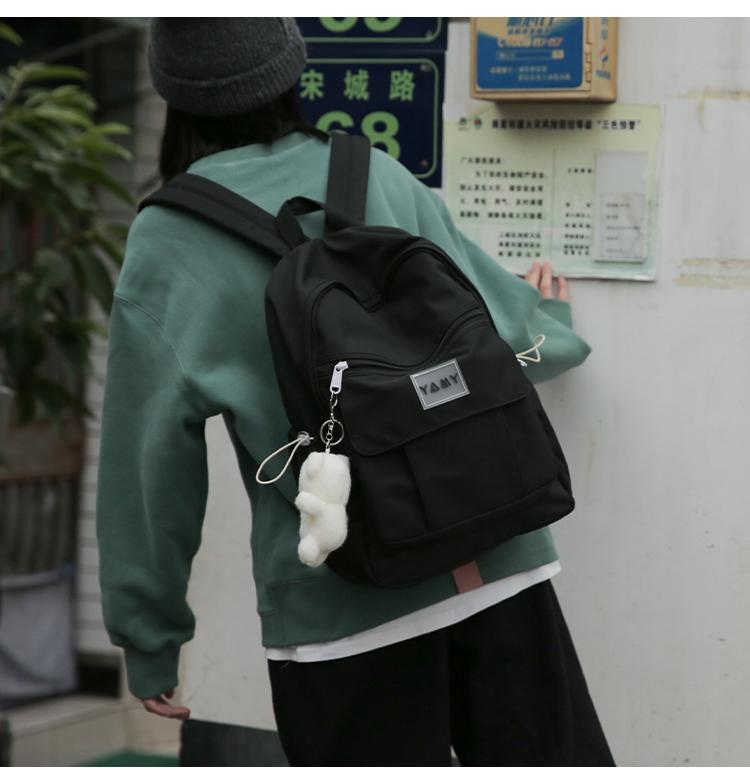 花曦家双肩包女日系原创小众揹包韩版大学生风简约校园书包详细照片