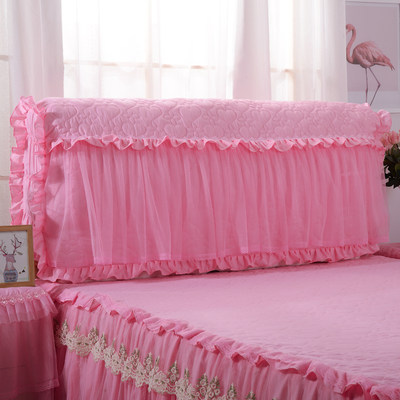 Korean lace full-bed bed cover jacket thick soft bag bed head cover leather bed protection cover dust cover can be removed