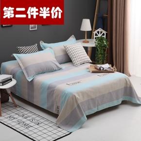Простыни, покрывала,  Хлопок старый грубый ткань кровать только модель двойной 1.5/1.8/2 в масштабе хлопок люди утолщённый находятся один студент 1.2m кровать, цена 320 руб
