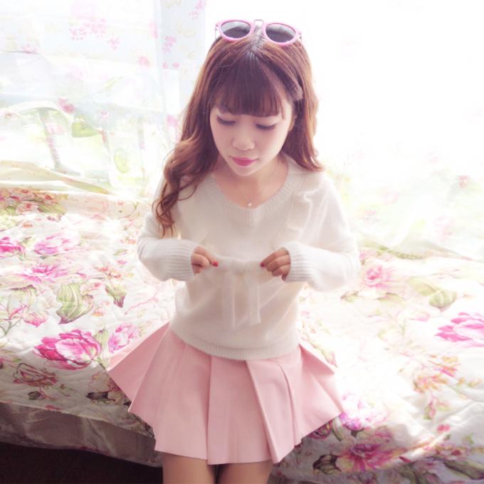 韩版甜美外套针织衫显瘦打底衫