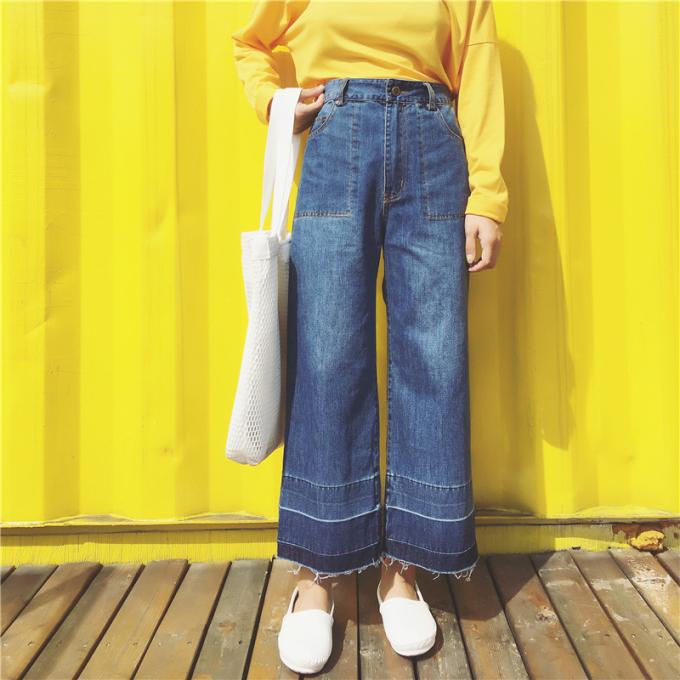 高腰显瘦阔腿裤九分裤大码女