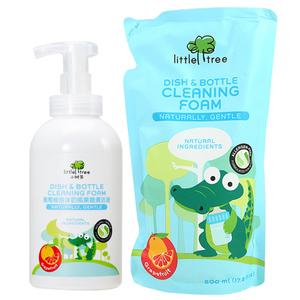 小树苗婴儿奶瓶清洗剂 水果清洁液 洗奶瓶液宝宝玩具洗涤剂组合装