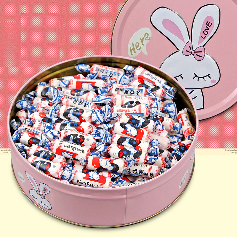 USD 7.50] Big white rabbit candy gift box 500g candy small snacks ...