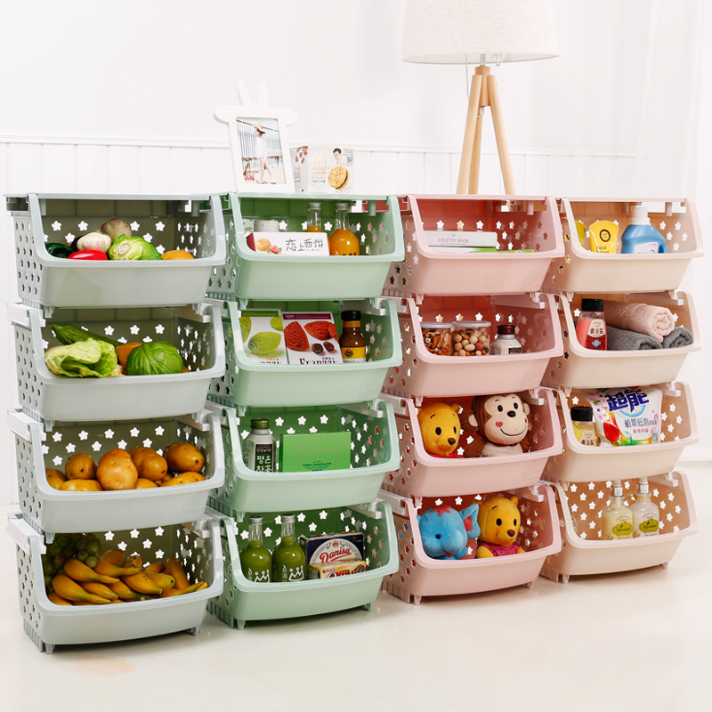Usd 14 29 Kitchen Racks Multi Layer Can Be Stacked Basket Toys