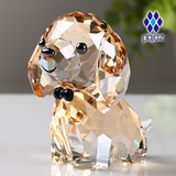 Birthday gift crystal puppy dog ​​twelve zodiac workshop girl creative 520 gift ornament high-grade decoration