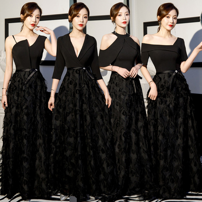 party elegant and noble evening dress dress show thin dress woman