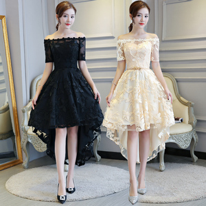 Evening dress prom gown Off the shoulder dress dress for women party temperament slim girl birthday party dress sister group dress