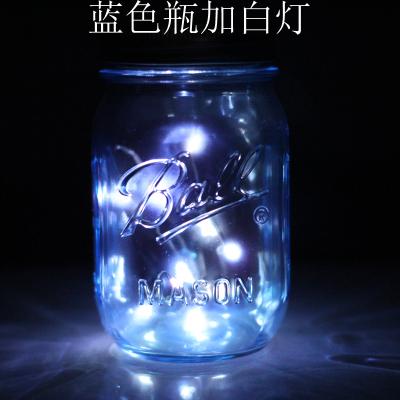 Голубой Бутылка плюс белый свет