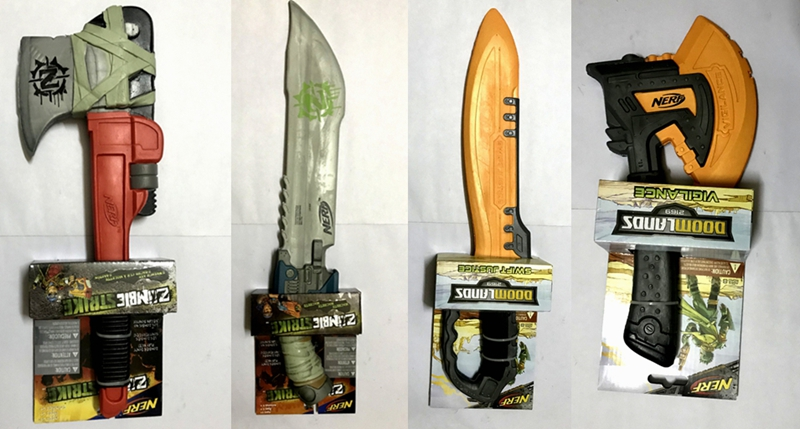 A treasure Nerf * soft melee cold weapon collection zombie sword zombie axe  toys cosplay road