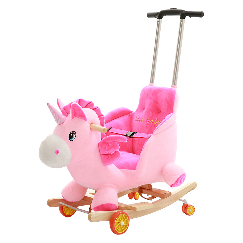 Childrenu0027s Wooden Horse Rocking Horse Dual Use Solid Wood Rocking Cradles  Baby Toys Baby Rocking Chair ...