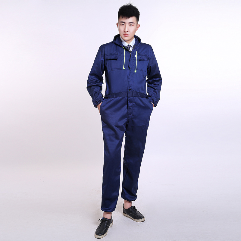 Hooded One-Piece overalls men long-sleeved labor clothing jumpsuit spray  paint dust and · Zoom · lightbox moreview · lightbox moreview ... 09b192e887cb