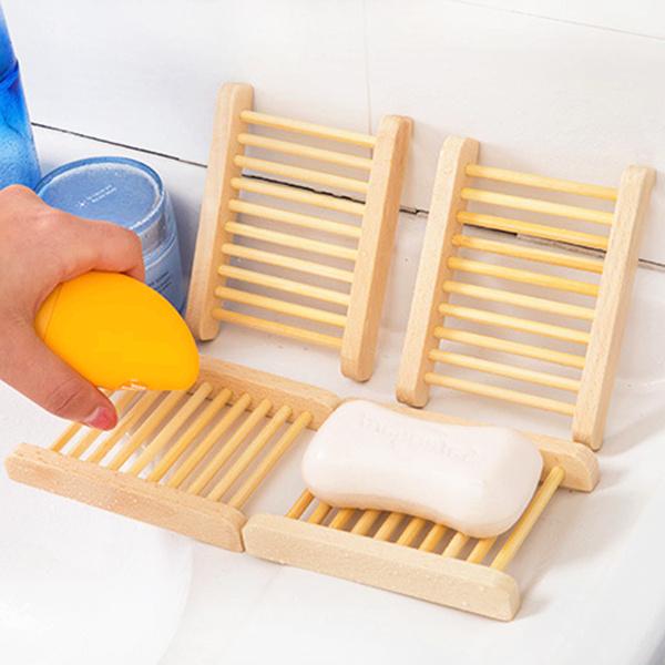 木质创意香皂用具盒卫生间大沥水盒免打孔肥皂置物架家居用品家用
