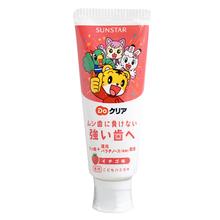 日本进口巧虎宝宝牙膏儿童牙膏可吞咽70g