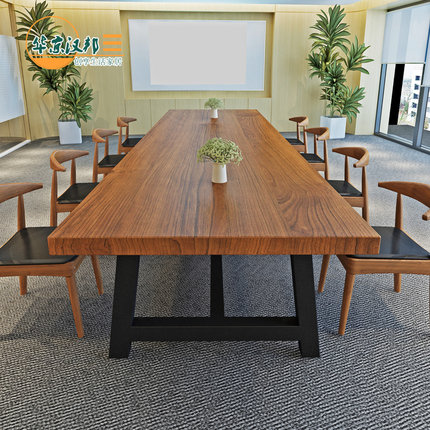 Large Solid Wood Conference Table Simple Modern Long Table To - Large wooden conference table