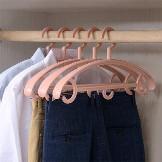 Seamless plastic hanger for clothes hangers Household clothes drying rack suit hanger slip thickened support hangers