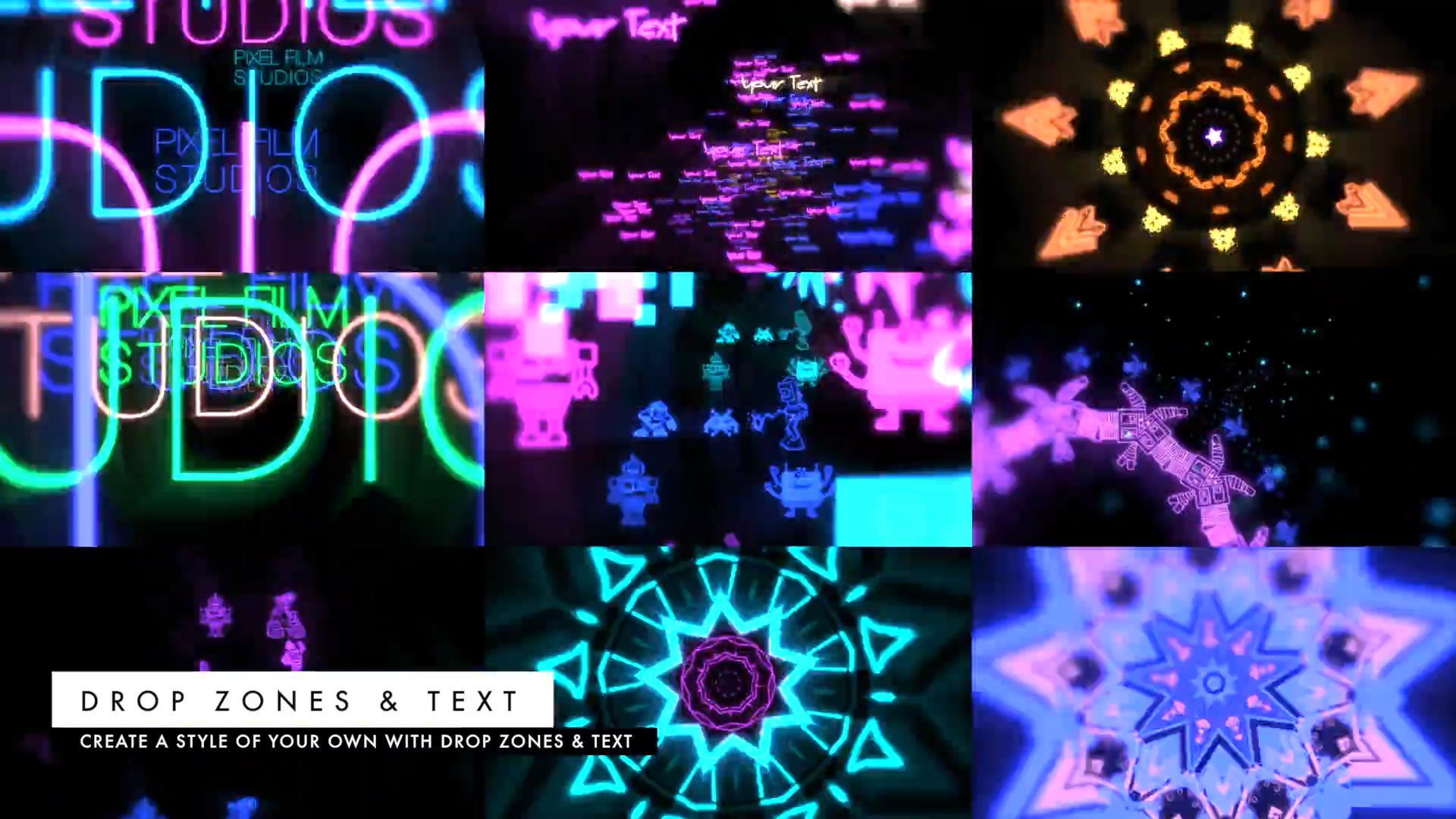 TB2XlmYahvzQeBjSZFMXXcVfFXa_!!1075754678 FCPX插件:VJ霓虹灯效果动态视频舞台背景预设 ProDrop: Light Show