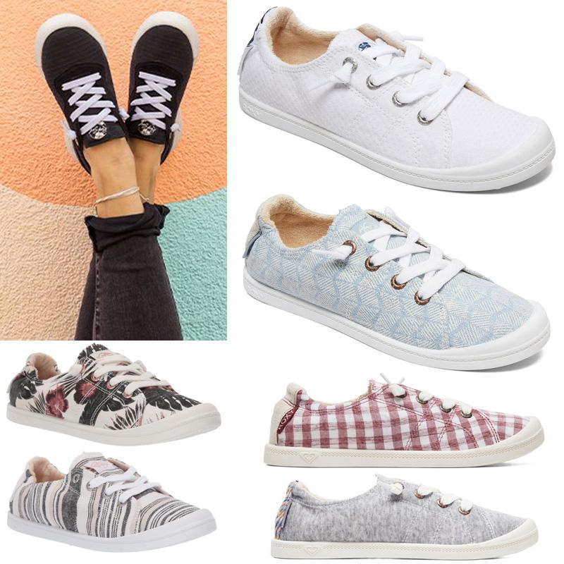 giày vải roxy giày của phụ nữ giày lớn giày vải mùa xuân và mùa thu cô gái mềm dưới đại học bộ bàn chân bộ nhớ nhỏ giày trắng 2020 - Plimsolls
