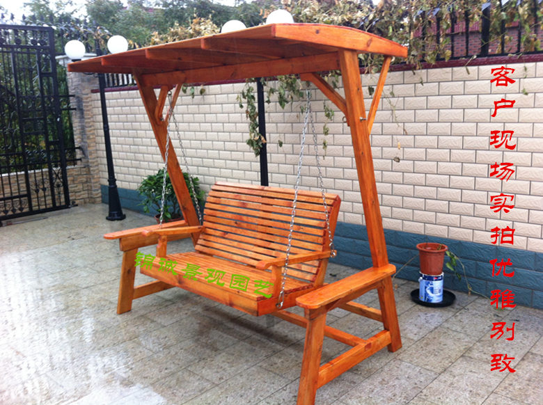 Usd 615 00 Anti Corrosion Wood Carbon Wood Swing Rocking Chair