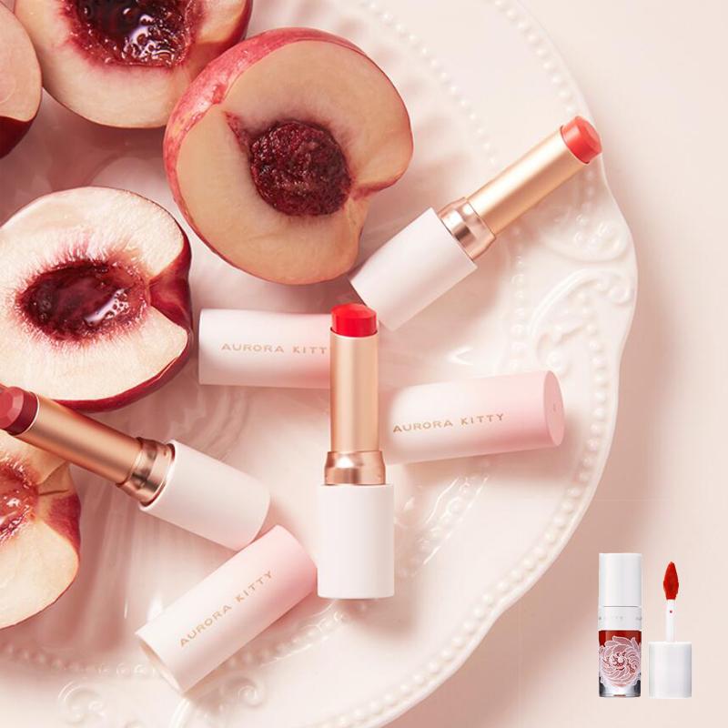 桃可姬小蜜桃口红正品保湿滋润唇膏豆沙色学生平价小众款品牌
