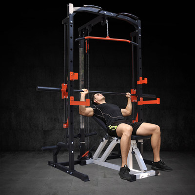 Yulong Smith machine squat rack multifunctional bench press weightlifting bed gantry home sports fitness equipment