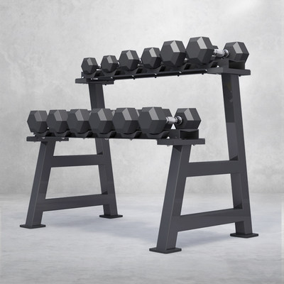 Yulong double-layer dumbbell rack home storage fitness equipment commercial gym dumbbell storage rack set