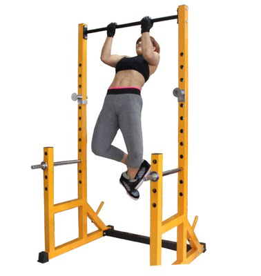 Multifunctional professional split frame squat rack bench press barbell rack safety weight bench set fitness equipment