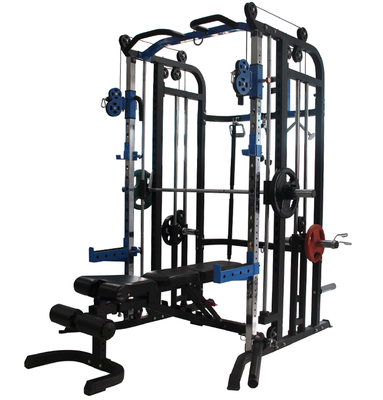 Smith machine squat rack multifunctional safety weightlifting bed frame bench press deep exercise fitness equipment barbell set